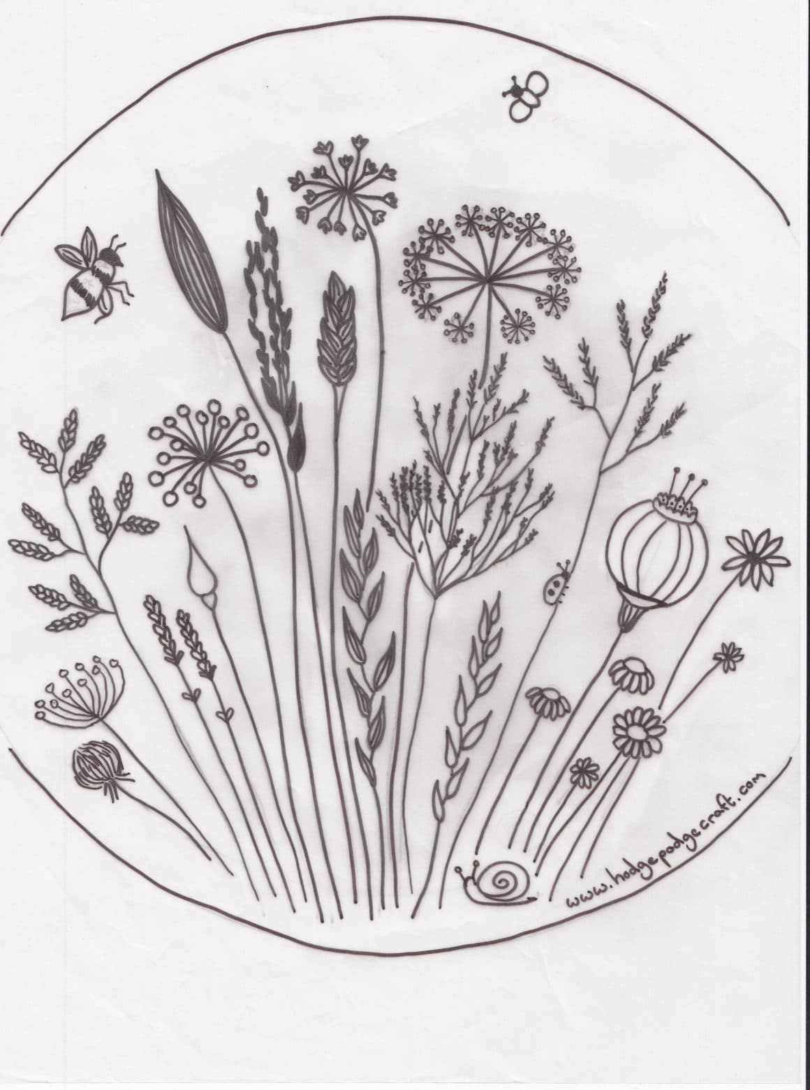 Free floral meadow embroidery pattern embroidery floral and stitch jeuxipadfo Choice Image